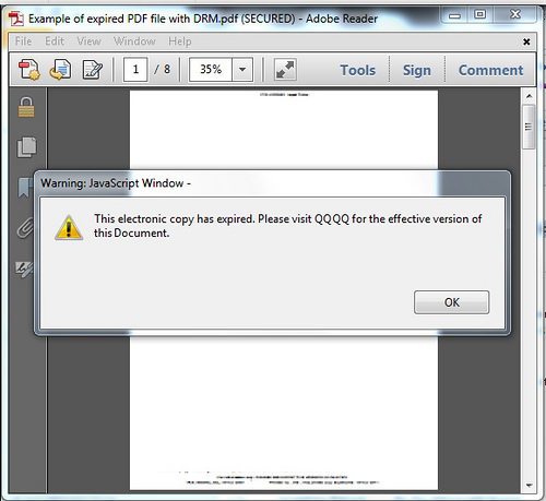 Expired DRM in PDF file