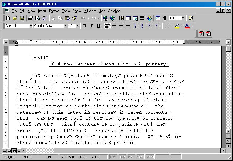 Wordstar 6 migration - MS Word 97