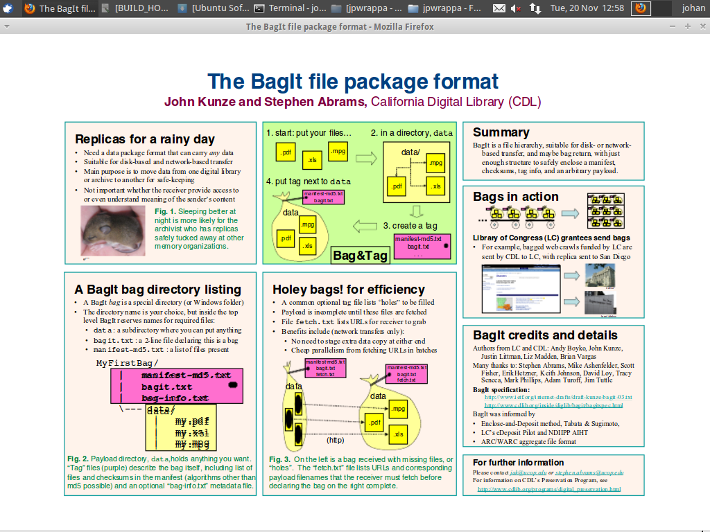 Figure 2: URL presented in Ubuntu / Firefox